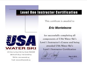 Certificate+for+USA+Water+Ski+Level+1+Instructor's+Certification+Course copy